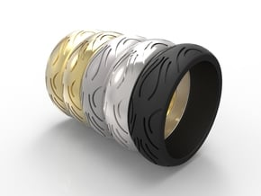 Motorcycle Low Profile Tire Tread Ring Size 7 in Black Natural Versatile Plastic