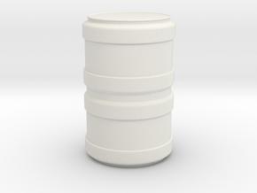 Modern/Sci-Fi Barrel in White Natural Versatile Plastic