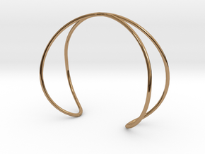 Infinity Bracelet in Polished Brass