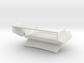 GT2 inspired engine lid 911 RSR scale 1/12 in White Natural Versatile Plastic