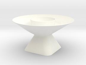 Dish 2 of 4 in White Processed Versatile Plastic