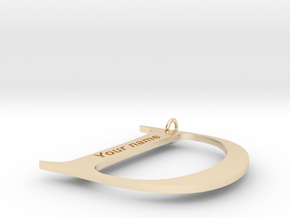 D in 14K Yellow Gold