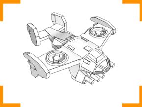 """Viper"" VTOL Gunship 6mm in White Natural Versatile Plastic"