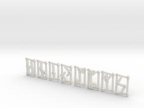 2nd Aett - Futhark Nordic Rune Stones - 2 of 4 in White Natural Versatile Plastic