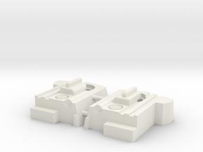 Blocky Glider Chest Extension in White Natural Versatile Plastic