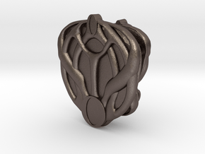 Mon Mothma's Brooch Set in Polished Bronzed Silver Steel