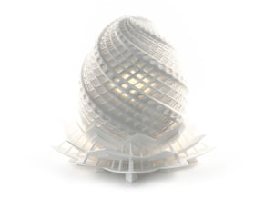 Phoenix Egg Lamp in White Natural Versatile Plastic