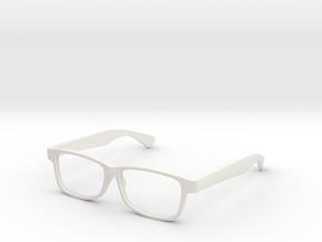 """Glasses - Replacement """"Modern Buzz"""" Frame in White Natural Versatile Plastic"""