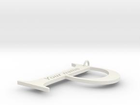 P in White Natural Versatile Plastic