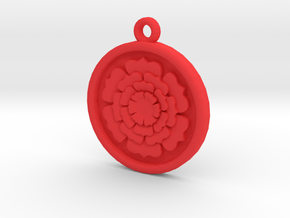 Rose Pendant For Shapeways in Red Processed Versatile Plastic
