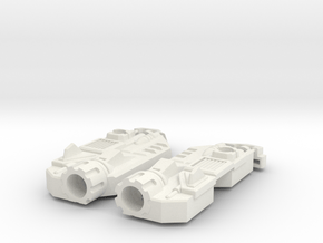 Blocky Glider Leg Extension in White Natural Versatile Plastic