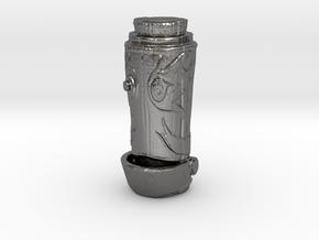 H.E.L.Per Robot Head Pendent  in Polished Nickel Steel: Medium