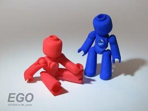 EGO miniature figure in White Natural Versatile Plastic