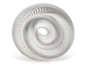 Mobius Maximus in White Natural Versatile Plastic