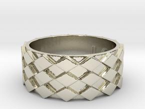 Futuristic Diamond Ring Size 12 in 14k White Gold