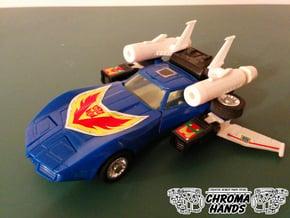 G1 Tracks Flight Mode Wings in White Processed Versatile Plastic