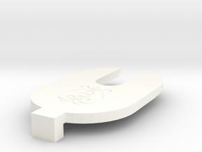 Spirio Solenoid Spacer in White Processed Versatile Plastic