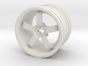 Wheel Design VIII in White Natural Versatile Plastic