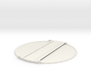 T-32-small-turntable-168d-100-flat-1a in White Natural Versatile Plastic