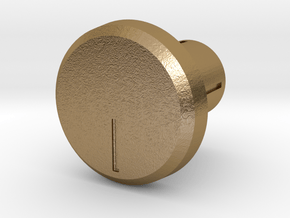 Shooter Rod Knob - Volume-part A in Polished Gold Steel