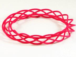 Twist Bangle A01M in Pink Processed Versatile Plastic