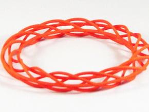 Twist Bangle A02M in Orange Processed Versatile Plastic