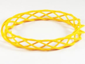 Twist Bangle A03L in Yellow Processed Versatile Plastic