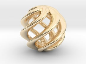 Pearl in 14k Gold Plated Brass