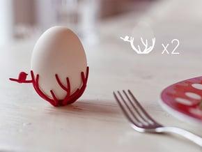 birdsnest eggcups duo in White Natural Versatile Plastic