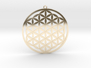 Flower Of Life Pendant in 14K Yellow Gold