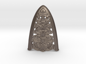 Borre Chape D in Polished Bronzed Silver Steel