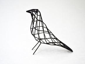 birdy - small (h:11cm/4.2In) in Black Natural Versatile Plastic