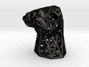 Fight the Power Voronoi Fist in Matte Black Steel