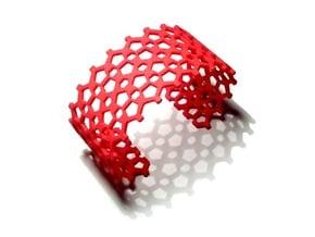 Mosaic Bracelet in Red Processed Versatile Plastic