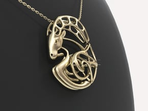 Capricorn Zodiac Pendant in 14k Gold Plated Brass