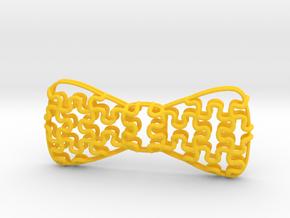 Lightweight Bowtie Puzzle in Yellow Processed Versatile Plastic