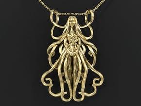 Vigro Zodiac Pendant in 14k Gold Plated Brass