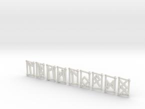 Small Aett 3 - Futhark Runes - 8 of 24 (plus one) in White Natural Versatile Plastic