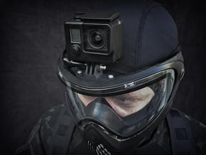 Paintball Mask Mount for GoPro Hero 1-9 & Session in Black PA12