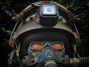 Helmet NVG Mount for GoPro HERO 4/5 Session in Black Natural Versatile Plastic