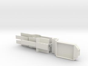 Tieflader ähnlich Broshuis V2 Druck 1:50 in White Natural Versatile Plastic