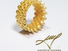 Snake Ring, Reptile Texture in White Natural Versatile Plastic