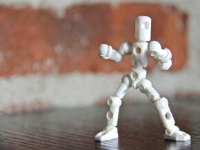 ModiBot Myke- Microfigure frame in White Natural Versatile Plastic