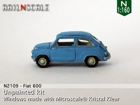 Fiat 600 (N 1:160) in Smooth Fine Detail Plastic