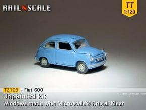 Fiat 600 (TT 1:120) in Smooth Fine Detail Plastic