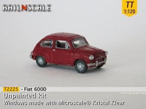 Fiat 600D (TT 1:120) in Smooth Fine Detail Plastic
