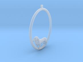 Dachshund Hoop Earring in Smooth Fine Detail Plastic