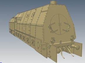 1-72 BR 57 Armored Locomotive For BP-42 in White Natural Versatile Plastic