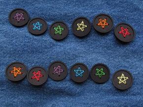 "1"" five-holed buttons (dozen) in Black Natural Versatile Plastic"