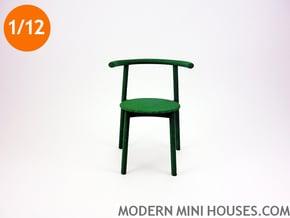 Solo Modern Designer Chair 1:12 scale in Green Processed Versatile Plastic